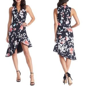 Dress Population Bijou Floral Plunge Dress Size XL